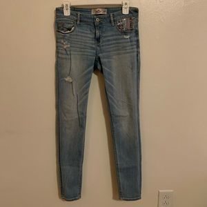 Hollister Super Skinny Light Wash Denim Jeans